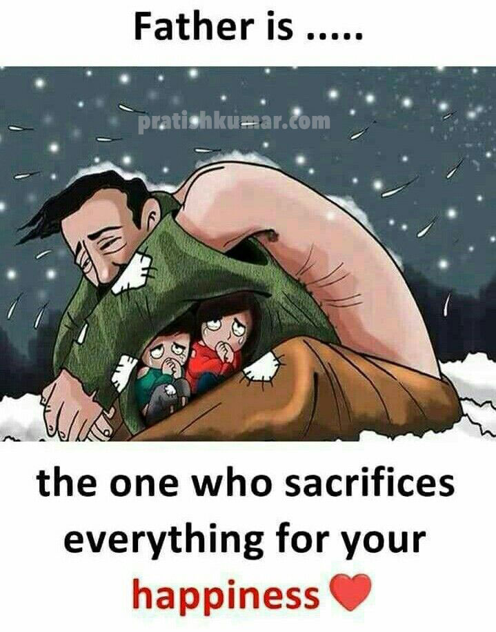 Father - the one who sacrifices everything for your happiness - Inspirational Quote Image