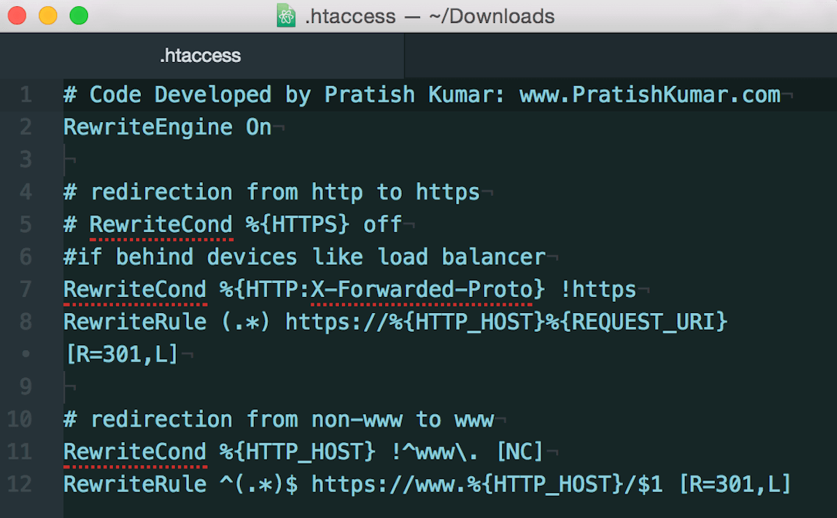http to https Redirect htaccess